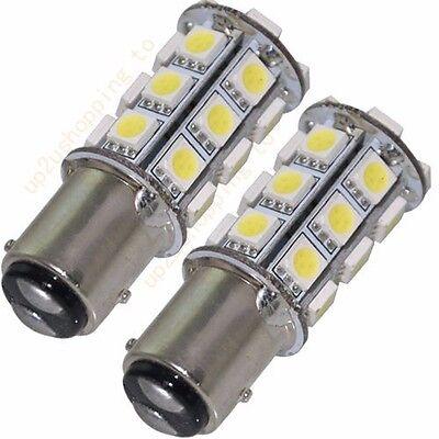 2 x 1157 BAY15D best White 27 5050 SMD LED Car Stop Tail Brake Light Bulb