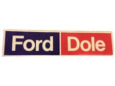 1976 Gerald Ford President Campaign Bumper Sticker Original Mustang Raptor F-150