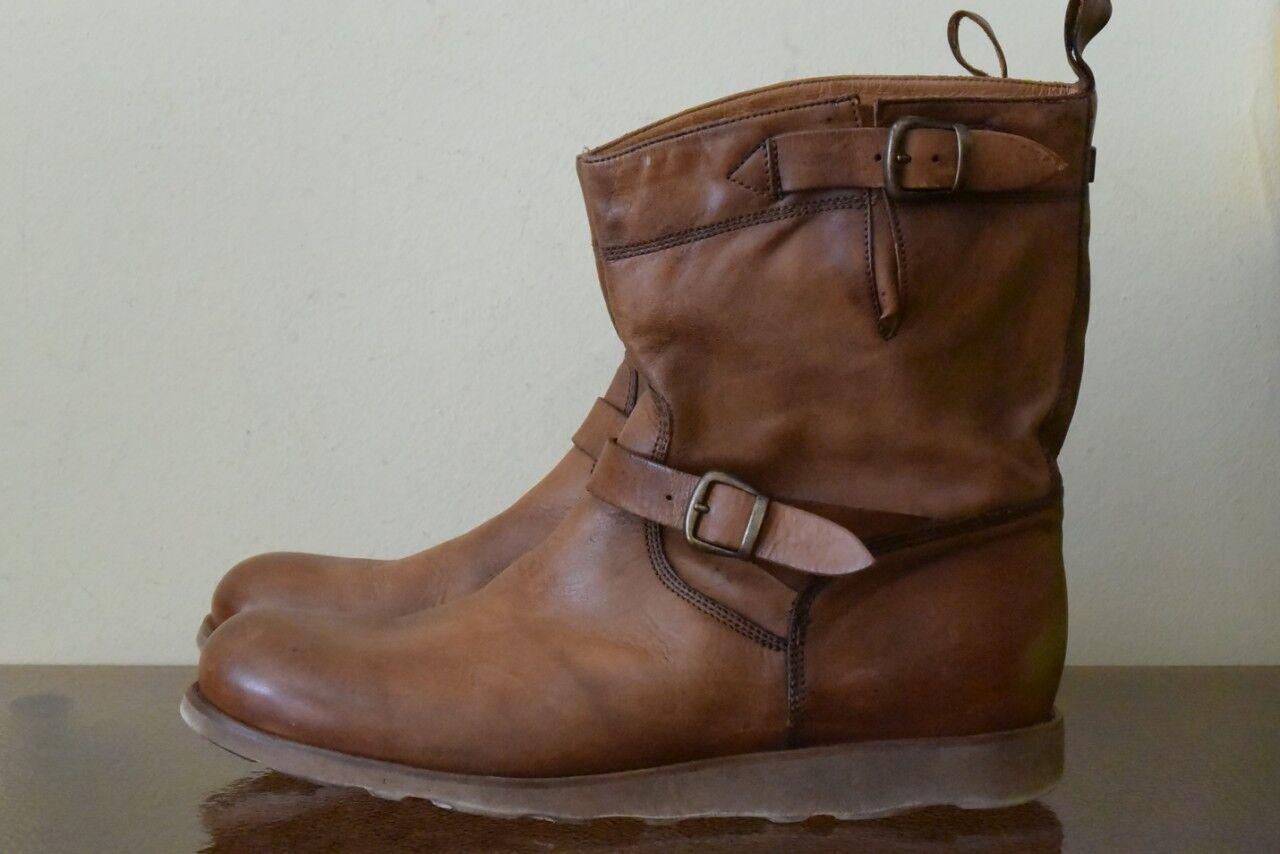 Belstaff Barkmaster Leder Boots Vibram Gr 44