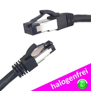 CAT 8.1 RJ45 S/FTP 0,25m - 5m Netzwerkkabel Ethernetkabel PC LAN schwarz
