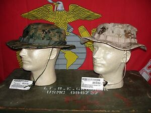 2 USMC MARPAT Field Cover Boonie Hats Woodland   Desert Sekri ... 94c1170677b8