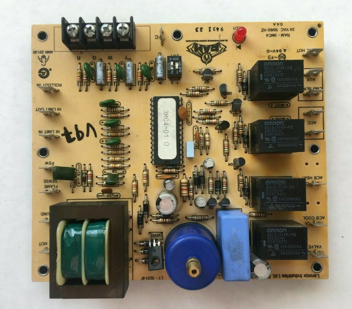 oem lennox 20j8001 ignition control circuit board ram-3mc4-01 ly92014j for  sale online | ebay  ebay
