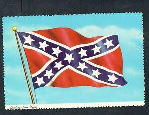J324-Chrome-Advertising-Postcard-4x6-Flag-of-Dixie