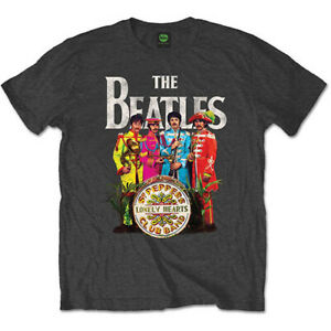 THE-BEATLES-Sgt-Pepper-Mens-T-Shirt-Unisex-Tee-Official-Licensed-Band-Merch