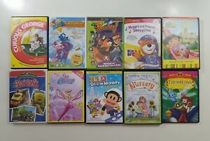 Kids DVD Lot of 10 Titles - SEE DESCRIPTION FOR TITLES