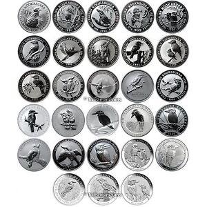 Australia 1990 2017 Complete Kookaburra 28 Coin Collection