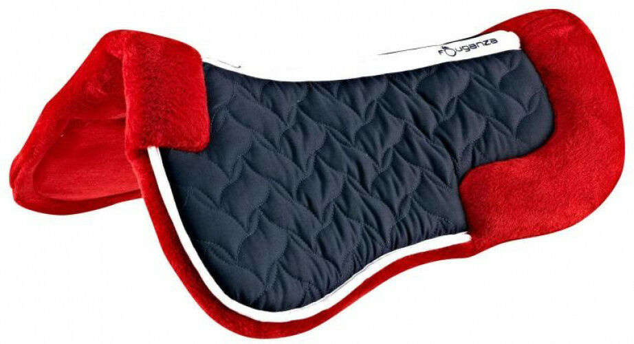 FOUGANZA Lena Fleece Horse Riding Foam Saddle Pad For Horse And Pony - Red