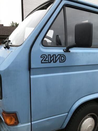 2x Aufkleber 2WD VW T3 T4 Doka Camper 1.5 1.9 TD LBX WBX CU//CV JX CS CT//CZ DF
