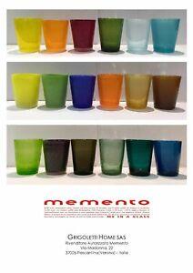Memento-Glass-Bicchieri-in-Vetro-Vari-Colori-h-cm-10-x-8-1-Qualita