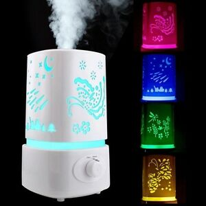 1.5L Ultrasonic Aroma Humidifier Home LED Air Diffuser Purifier Lonizer Atomizer