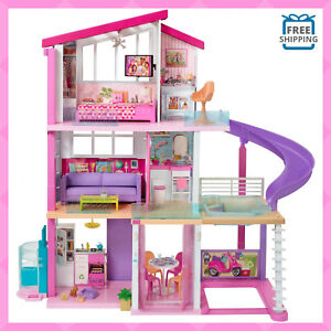 Doll-House-Playset-Barbie-Dreamhouse-with-70-Accessories-Toys-for-Girls