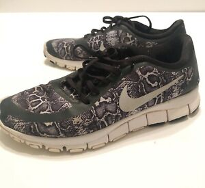 Details about Nike Free 5.0 Running schuhe Woman Size 10 Black White Leopard Animal Print