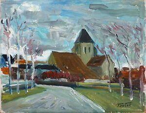 Louis-Edouard-TOULET-1892-1967-HsP-L-039-eglise-Fauvist-Fauvism-Ecole-de-Paris