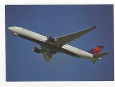 Delta Airlines A330-323X at London Aviation Postcard, A637