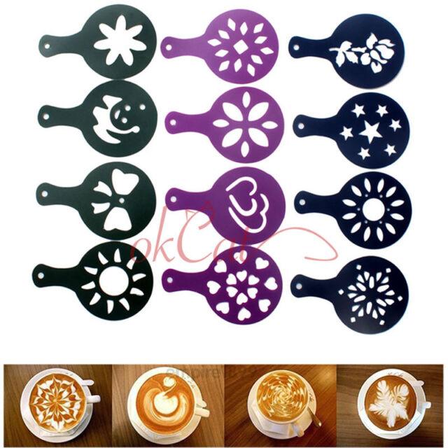 Coffee Milk Cake Cupcake Stencil Template Mold 12 Different Design Pack