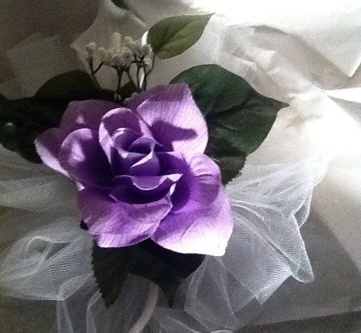 22 Wedding Pew Bows blanc CALA Lilies And violetc Roses