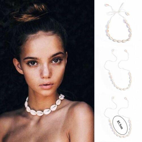 Boho Natural Shell Sea Shell Conch Pendant Collar Choker Beach Necklace Jewelry