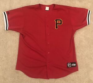 Vintage Pittsburgh Pirates MLB Majestic Red 90s Baseball Jersey Mens Size XL