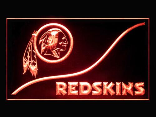 P178R Washington Redskins For Game Room Display Light Sign