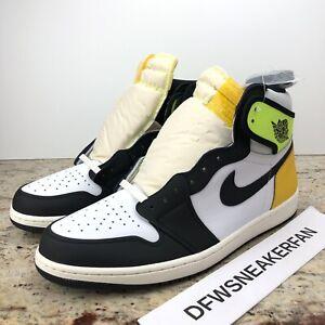 Details about Nike Air Jordan 1 Retro High OG Men's 14 Shoes Volt Gold 555088-118 No Lid