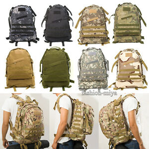 f7b9b0e444 Image is loading 55L-Outdoor-Military-Molle-Tactical-Backpack-Rucksack- Travel-