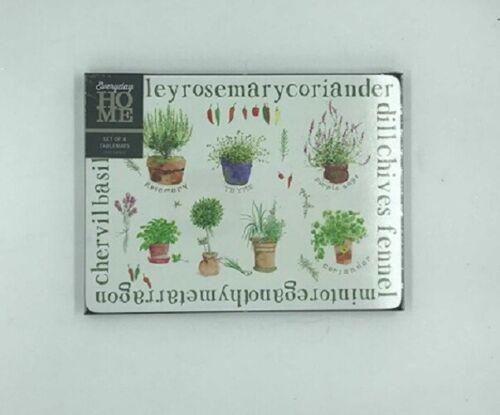 Creative Tops Vert Plante Fleur de Jardin Liège 4 sous-verres /& napperons sets