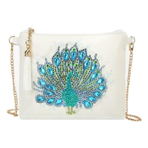 DIY Butterfly Special Shaped Diamond Painting Leather Chain Messenger Bag Purse