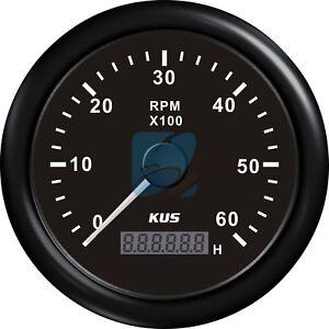 KUS-Boat-RPM-Meter-WEMA-LCD-Marine-Tachometer-Hourmeter-12-24V-0-6000-RPM-85mm