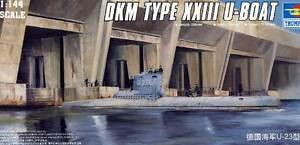 Trumpeter-U-Boot-German-Typ-XXIII-Type-Modell-Bausatz-1-144-NEU-OVP-Tipp-kit