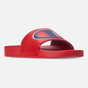 6ae5ff88d05 Men s Champion IPO Slide Sandals Red White-Blue Sizes 8-13 NIB ...