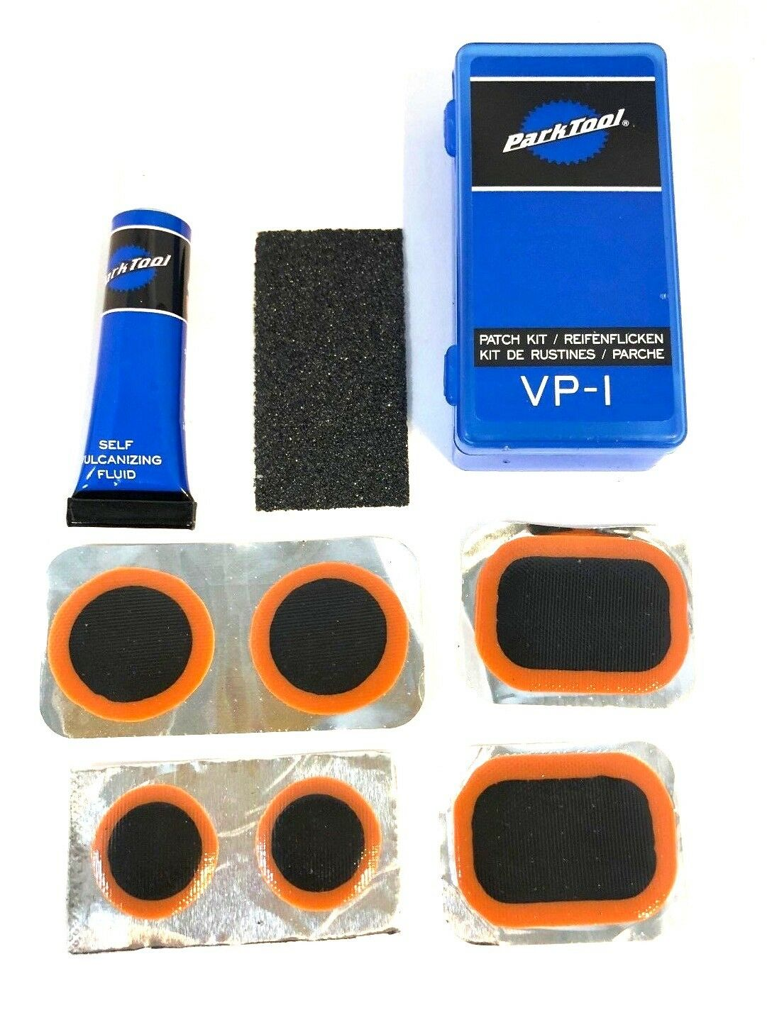 Park herramienta VP-1 Bicicleta Tubo Neumático Kit De Parche de reparación de vulcanización-peJuegonto + parches de 6