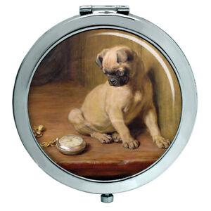 Pug-Tick-Tack-by-Briton-Riviere-Compact-Mirror