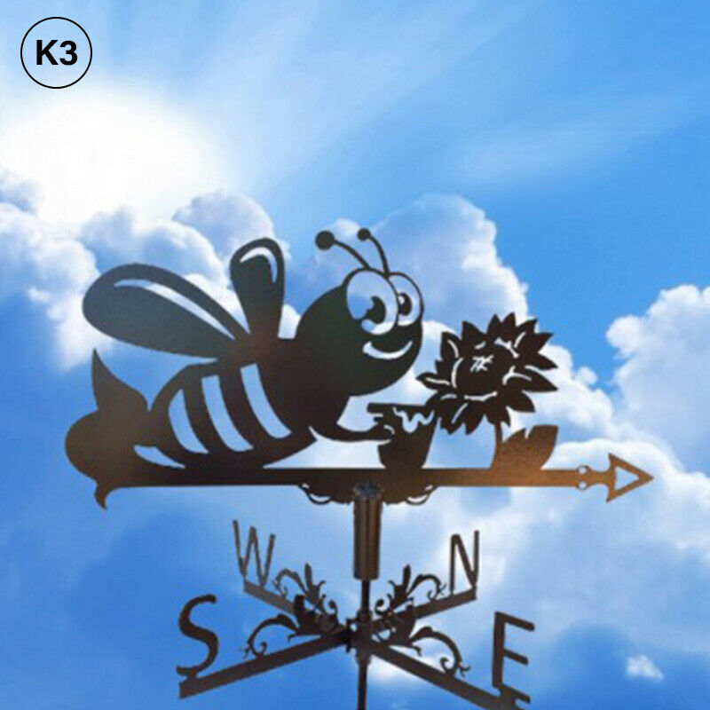 Weather Vane for Garden, Metal Weathervane Outdoor Farm Weather Vane R H*