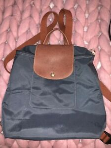 Details about Longchamp Le Pliage Backpack Graphite Gray Made In France