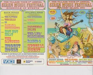 """Siren Festival 2003 NYC Modest Mouse Ted Leo Glossy 4"""" x 6"""" Card"""