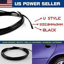 40ft Black Moulding Trim For Car Door Edge Guard Air Vent Grill Rim U Style