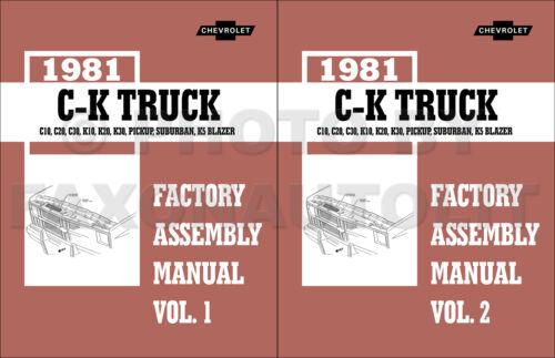 1981 Chevy Suburban and K5 Blazer Factory Assembly Manual 81 Chevrolet GMC Jimmy