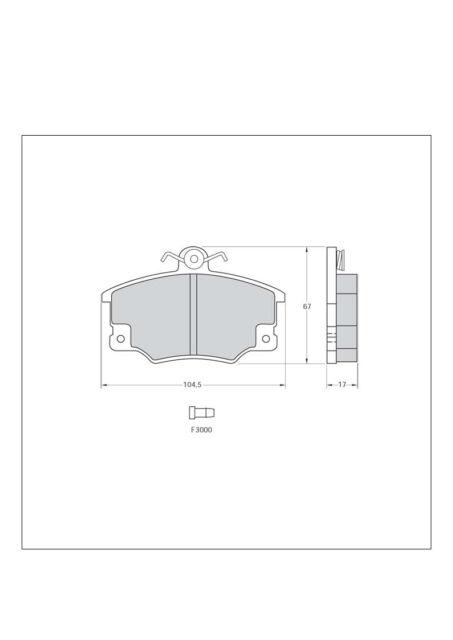Pastiglie freno sportive anteriori TAROX 0177 112 Alfa Romeo 145 146 1.3 1.4 1.6
