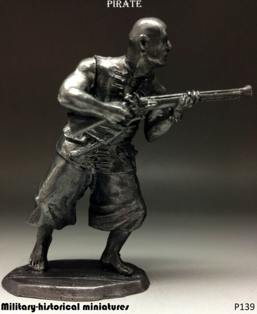 Pirate, Tin toy soldier 54 mm, figurine, metal sculpture