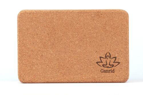 Natural Cork Bricks Ganrid Yoga Support