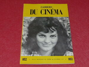REVUE-LES-CAHIERS-DU-CINEMA-N-102-DEC-1959-JEAN-RENOIR-Rohmer-EO-1rst-Print