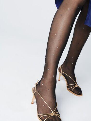 FIORE Aretha Luxury Super Fine 20 Denier Metallic Polka Dot Patterned Tights