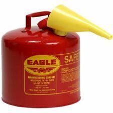 Eagle 2 Gallon Metal Gasoline Can Red Gas Fuel Tank Steel New Pour Spout Liquids