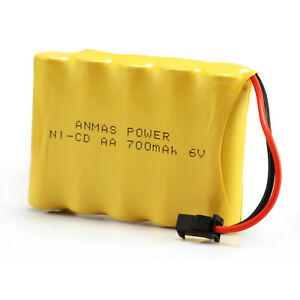 Rechargeable Battery 6v 700mah Ni Cd Sm 2pin Plug Aa Toy Car Boat
