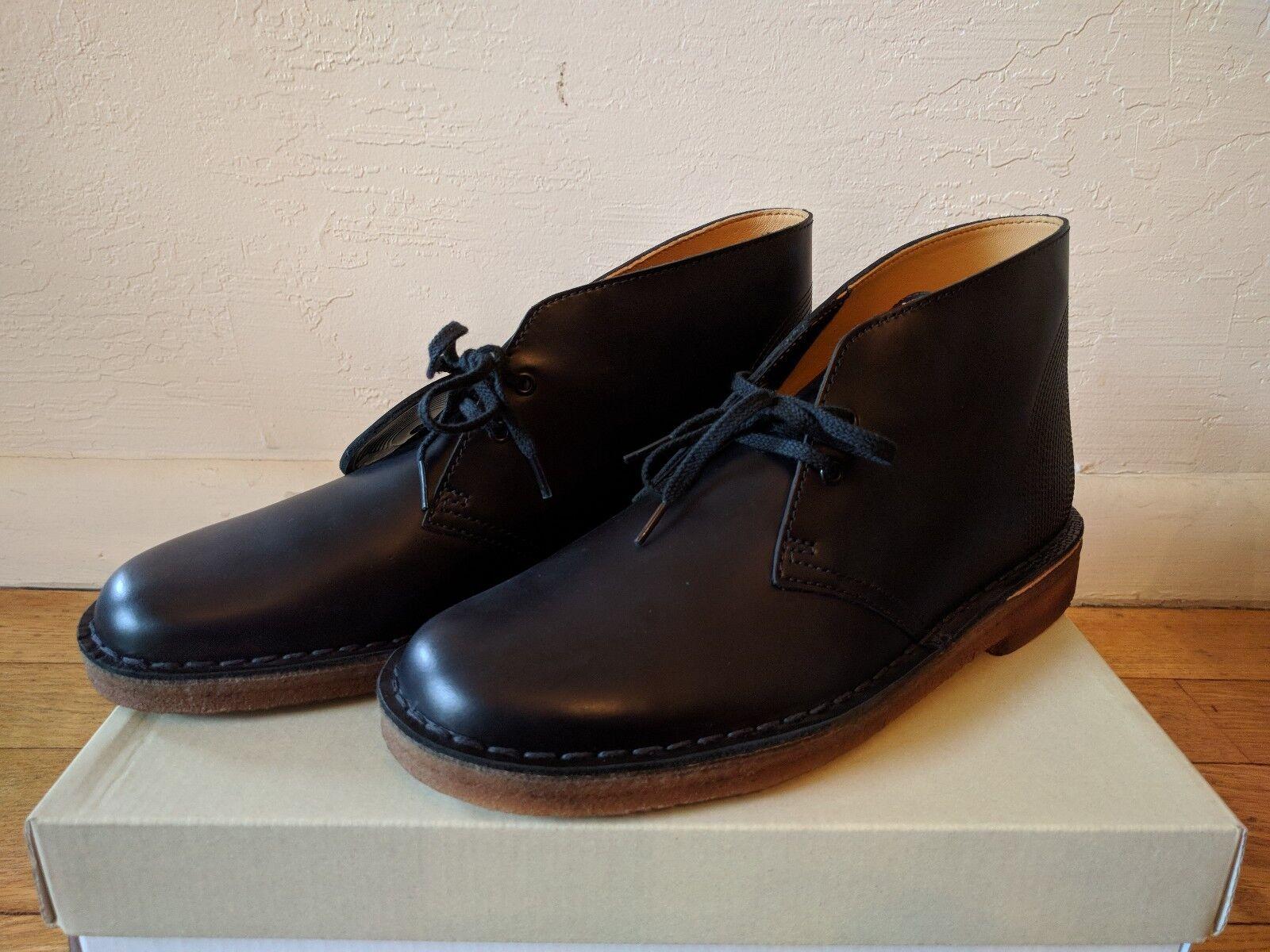 botas Desierto Clark's Originals Día de cuero negro de tienda de discos