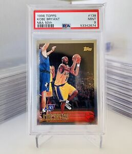 1996 Topps NBA 50th Basketball KOBE BRYANT ROOKIE RC #138 PSA 9 -REGRADE📈PSA10?