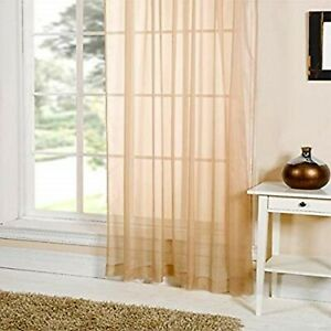 Emma-Barclay-One-Plain-Voile-Curtain-LUCY-153-x-228-cms-60-x-90-034-COFFEE-NEW