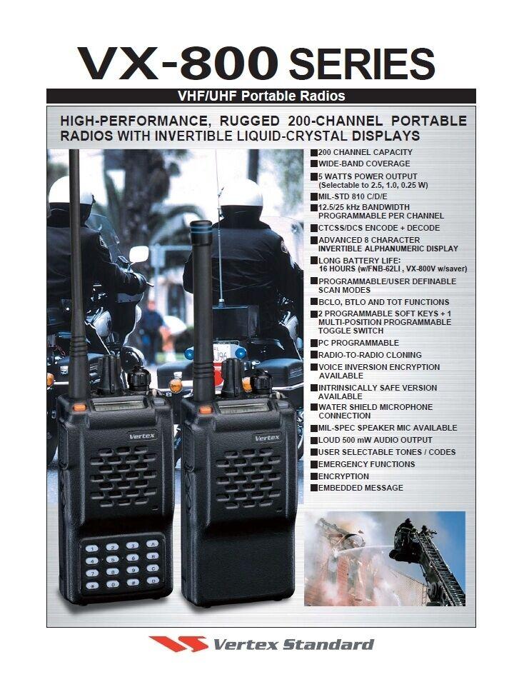 50 pcs VHF Antenna 6.5/'/' For Vertex Yaesu Radio VX-110 VX-800 VX-820 VX-829