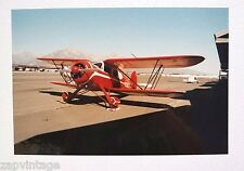 "Vintage 1997 Red PROP PLANE AVIATION Color SNAPSHOT PHOTO 8"" X 12"""