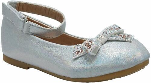 Bébé//Petit Enfant Fille Ballet Plates Bride Cheville Chaussures Robe De Soirée Chaussures